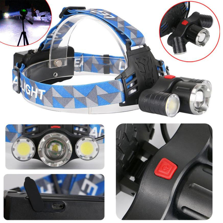 15000LM 3x XM-L T6 LED Rotate Rechargeable 18650 Headlamp Head Light Torch Outdoor Bike Bicycle Accessories Top Quality Dec 29 950lm 3 mode white bicycle headlamp w cree xm l t6 black silver 2 x 18650