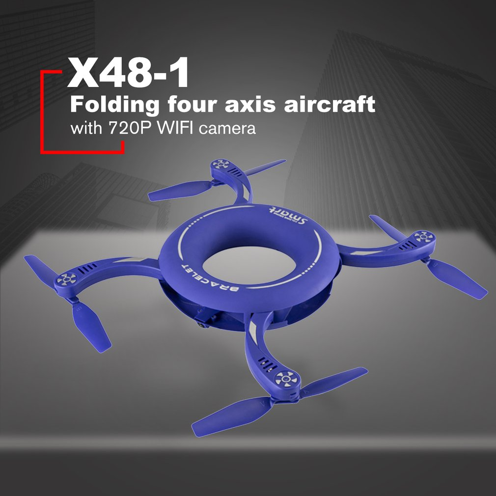 X48 1 Circle WIFI FPV 720p Camera RC Drone 2.4g Folding Rotate Dimension Maintenance Fixed Height Round RC Quadcopter Big Sale!