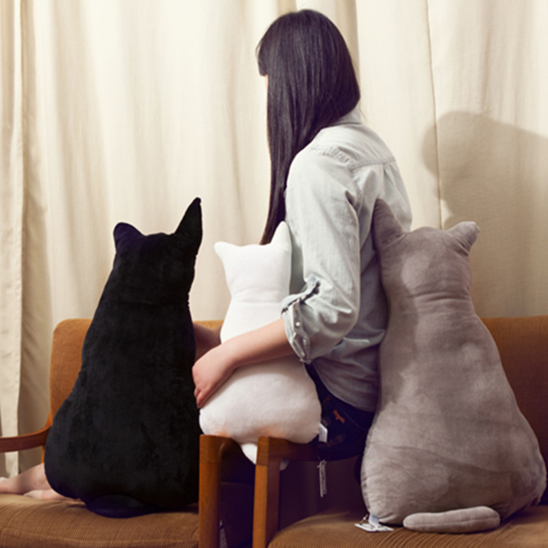 Kreatif kucing kembali Mewah bantal boneka bantal kucing Nyaman plush bantal  bantal sofa rumah Bantal dekoratif d52e68d9ef