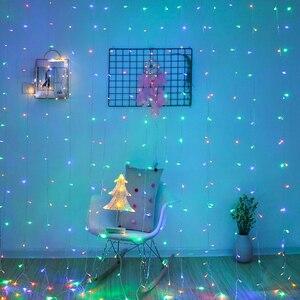 Image 5 - 2x 2/3x 2/6 × 3メートルカーテンledつららストリングライトクリスマス妖精led花輪屋外ライトホーム結婚式のパーティーの庭の装飾