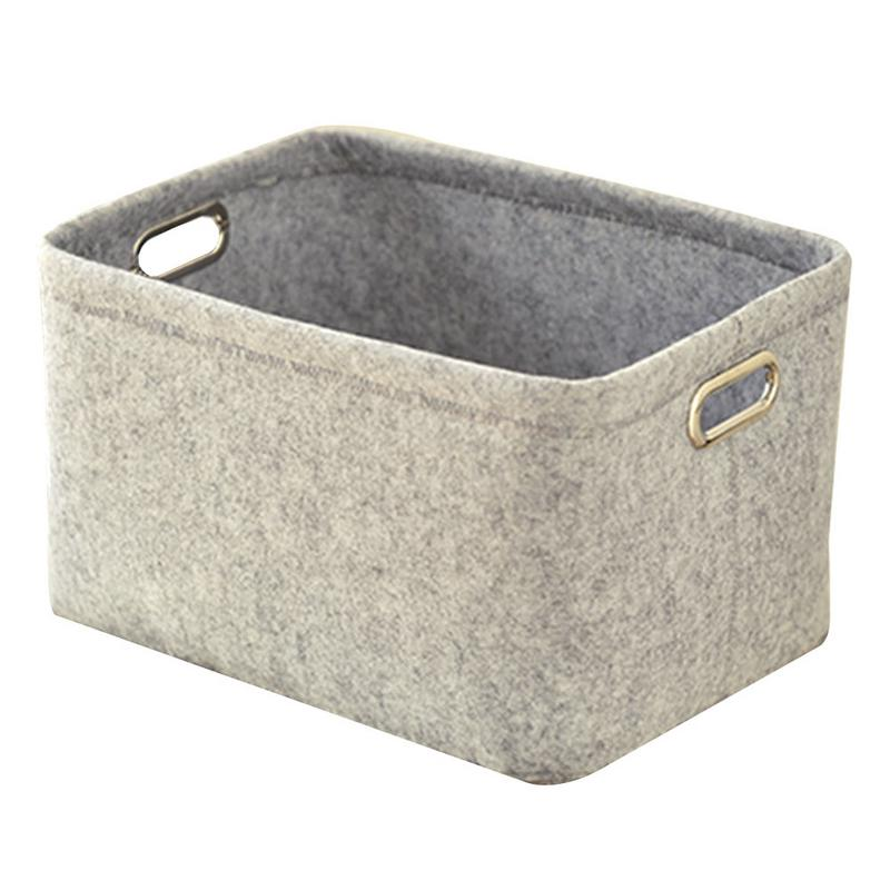 Felt Laundry Basket Clothing Storage Bin Large Size Toy Books Sundries Finishing Containers Folding Knitted Box Home Organizer In Baskets From