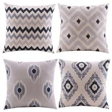 pillow decorative cushion linen/geometric