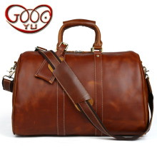 New first layer of leather handbag travel bag men large capacity leather bag business cross section square luggage