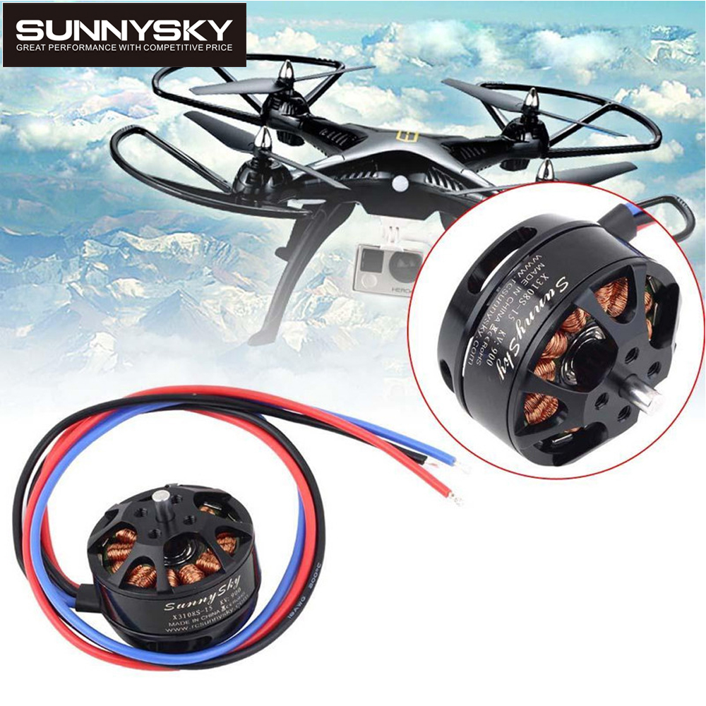 4set/lot SUNNYSKY X3108S 720KV 900KV 325W 22A/30S 1kg Brushless Motor Efficient Shaft Disk Motor for Multi-rotor copter