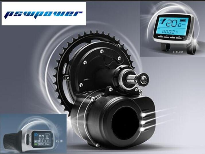 Tongsheng pswpower 36V 350W   TSDZ2 electric bicycle central mid motor with torque sensor and VLCD5 or XH-18 LCD display