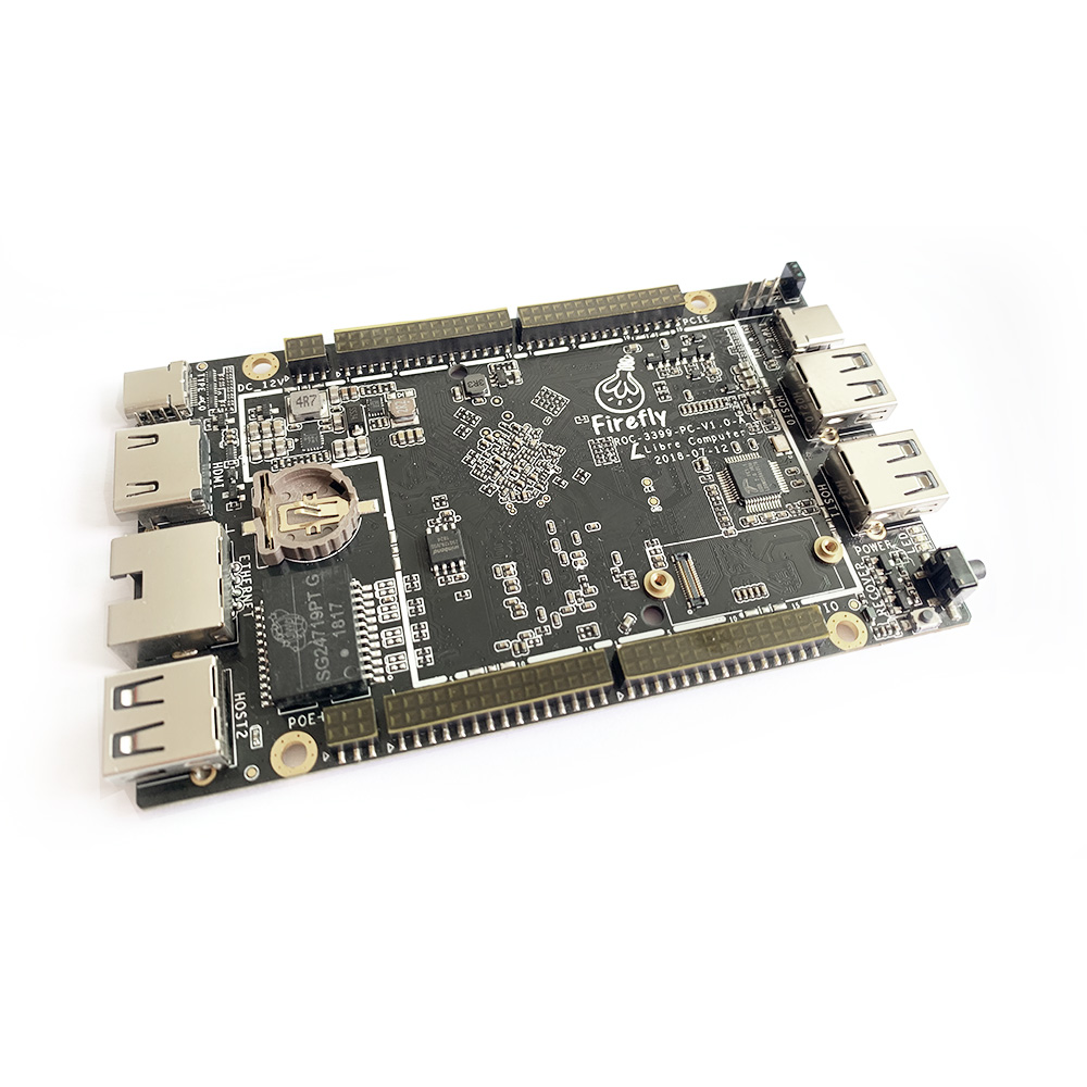 Firefly ROC RK3399 PC Based On Server-level ARM Cortex A72 Architecture, Run With Android 8.1 &Ubuntu 18.04, Support PD 2.0 & PO