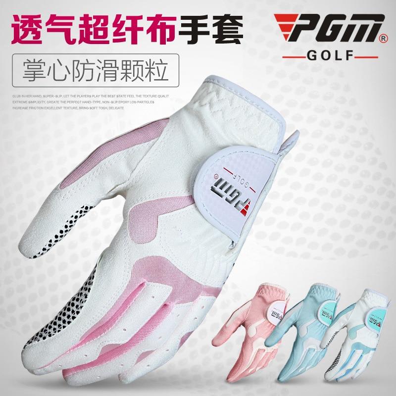 Prix pour Nouvelle pgm gants de golf en microfibre tissu glissement femelle modèles mains gants en gros fabricants