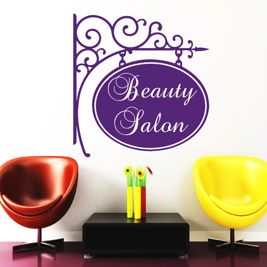 Eyes wall stickers wow modern beauty salon valentine wall decoration - Decoration Beauty Salon Wall Decals Hairdressing Decal Haircut Salon Barber Shop Wall Decor Window Mural Removable