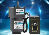 220V Gear Reduction AC Motor 6W Large Torque Slow Speed Positive and Negative Micro Speed Control Small Motor 10 500rpm