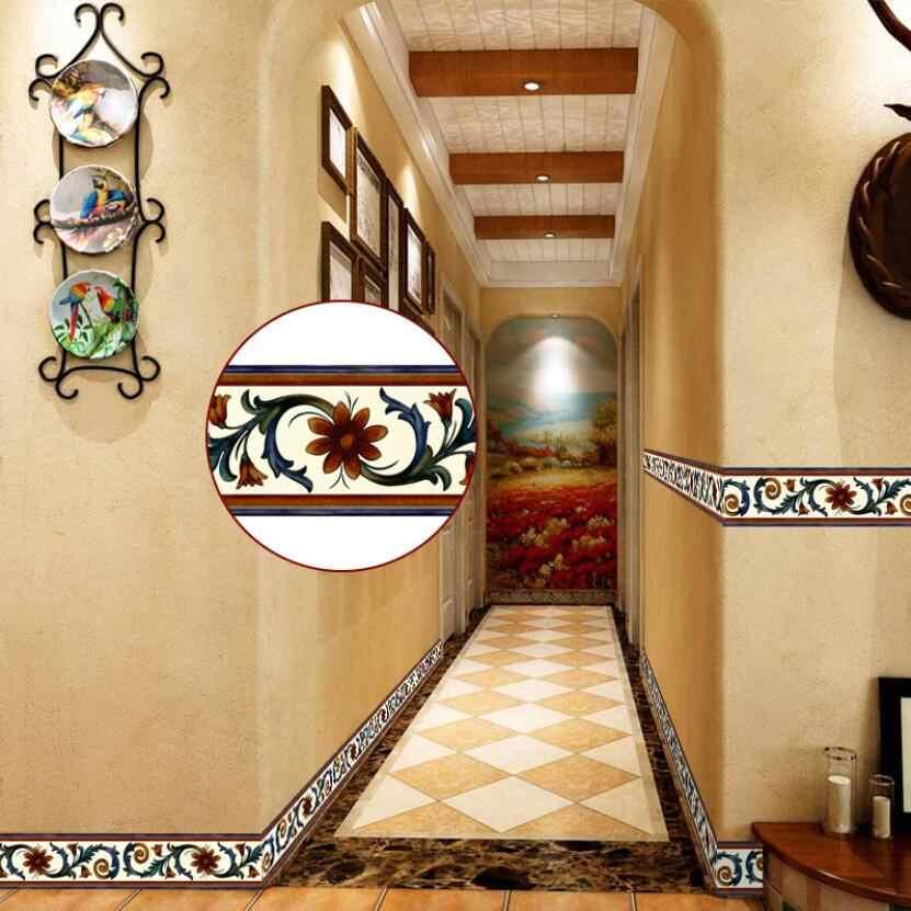 Vintage Flower Vine Wallpaper Borders Kitchen Bathroom Tile Decor