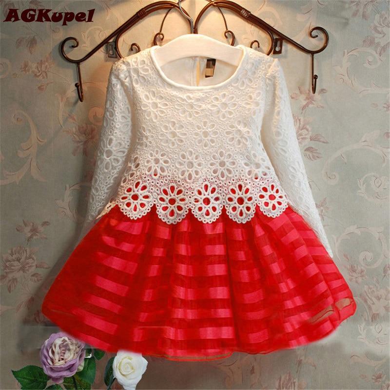 2018 3-8 лет; платье с кружевами крошё и балетной юбкой для маленьких девочек платье принцессы с длинными рукавами Обувь для девочек осенняя одежда детское платье на свадьбу