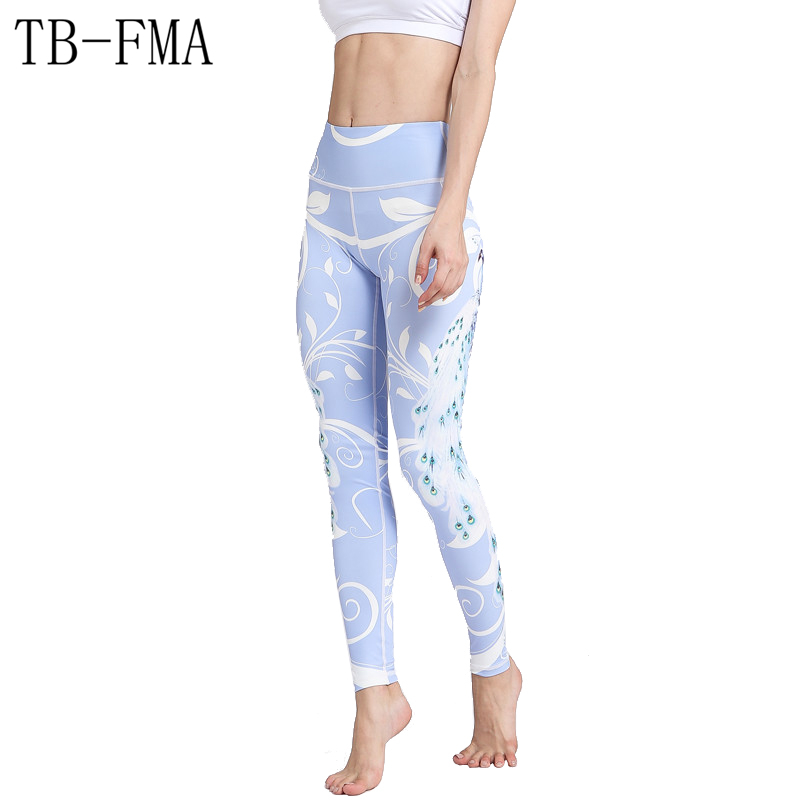 Sport Leggings Women Yoga pants Floral Fitness Running Tights Push Hips Compression Sportswear Gym pants Fitness Running Tight