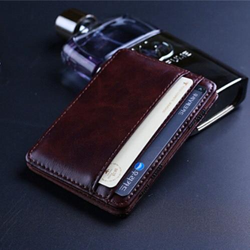 Fashion Mini Wallet Retro Men Magic Money Clips Men s Leather Wallets Purse  Multifunctional Credit Card Case Cash Holder 70d3c0d74