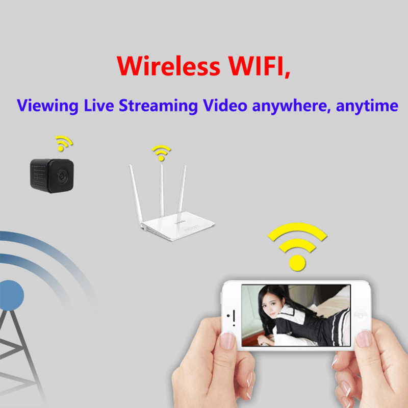 Invisible Night Version Wifi IP Mini Camera Wireless 1080P for Video Recording Support Remote Control Portable Recorder pk q7