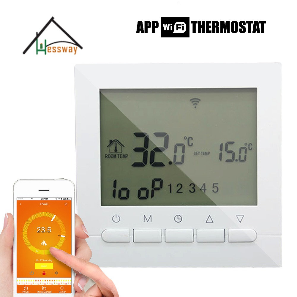 Touchscreen Colourful Programmable Modbus Thermostat for On&Off ...