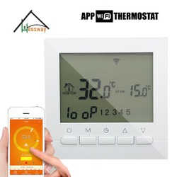 English Russi dry contac Gas boiler temperature controller thermostat WIFI APP Remote Controls with Floor heating linkage
