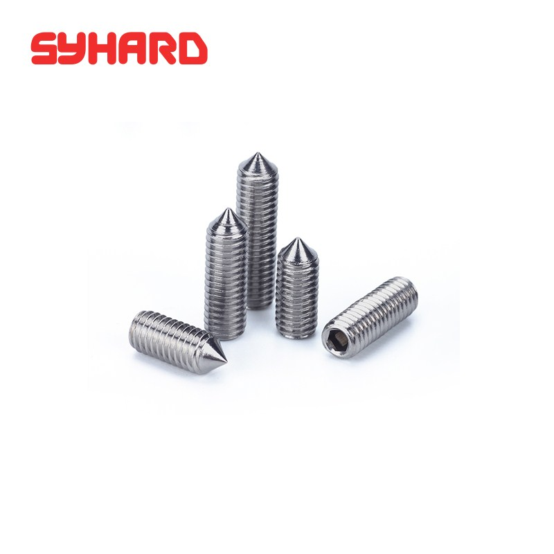 Wkooa Cone Point Set Screws Stainless Steel DIN914 M6x16 Pack 100