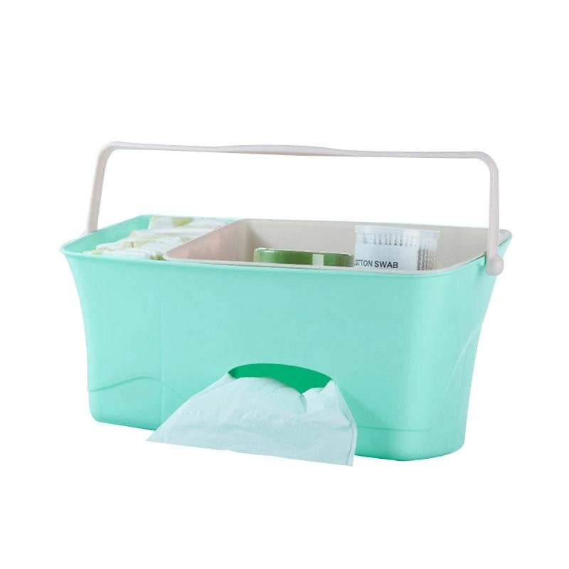 Кровать, детская кроватка, органайзер для пеленок, подвесной органайзер для детской кроватки, сумка для хранения, бумажные полотенца для новорожденных, карман для кроватки, постельные принадлежности - Цвет: Green
