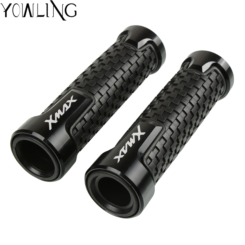 Motorcycle Hand Grip handle Bar handlebar grips For <font><b>YAMAHA</b></font> X-MAX 250 <font><b>XMAX</b></font> 300 <font><b>XMAX</b></font> <font><b>125</b></font> <font><b>XMAX</b></font> 250 2017 2018 2019 <font><b>XMAX</b></font> 400 2017 image