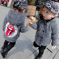 Crianças casacos de inverno meninos engrosse velvet clothing trespassado casaco de lã para crianças de lã de algodão com capuz bebê menina quente
