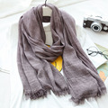 2016 New Autumn Winter Vintage Solid Color Women Scarf Elegant Pashmina,Unique Artist Cotton Linen Female Scarf Wraps Shawls