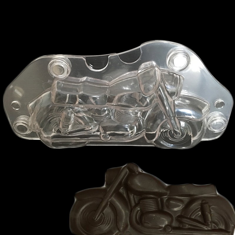 Motorcycle Chocolate Mold Plastic Polycarbonate Autobike Shaped Chocolate Moud