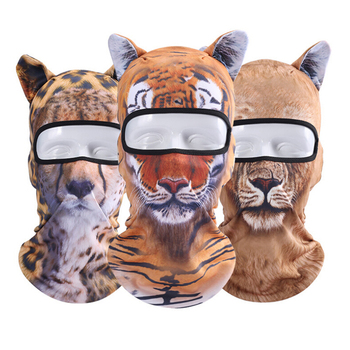 Winter Cycling Ski Face Mask Shield Training Scarf Cap Outdoor Bike Bicycle Snowboard Face Mask Full Face 3D Animal Ear Hat A2