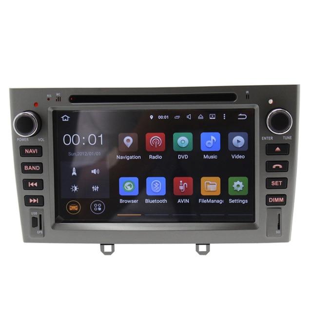 HD 1024*600 Quad Core Android 5.1 OS gps Del DVD Del Coche para Peugeot 308 I 2008-2011 y Peugeot 408 2010-2011 con 3G WIFI SWC envío mapa