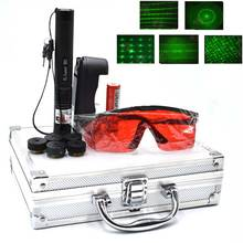 Green Laser Sight laser 303 pointer Powerful device Adjustable Focus Lazer with 303+charger+18650 Battery 10000m 532nm