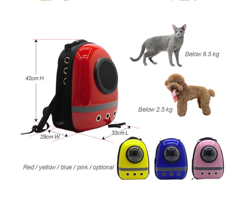 Luxury Pet Space Bag Astronaut Space Capsule Cat And Dog Out Backpack Backpack #4