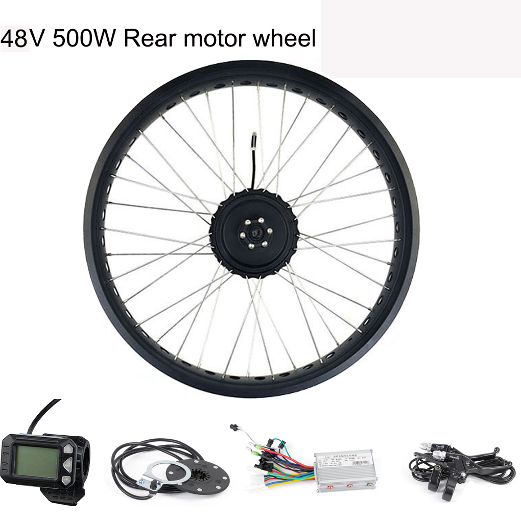 Electric Bicycles Motor Wheels for Electric Bicycles Rear Motor for a Scooter 48V 500W Rear Wheel Set 20 26  Bicycle PartsElectric Bicycles Motor Wheels for Electric Bicycles Rear Motor for a Scooter 48V 500W Rear Wheel Set 20 26  Bicycle Parts