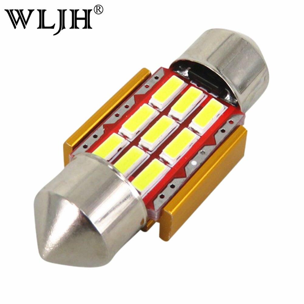 Гирлянда WLJH 1х 31мм LED чип для Samsung 4014 СМД автомобилей внутреннее освещение регистрационного номера авто лампы лампы освещения Белый canbus