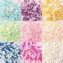 500 teile/beutel 2,5-5mm Mix Regenbogen Farbe Runde UV harz Imitation Perle Perlen kein loch Lose Perlen DIY schmuck Halskette, Handwerk