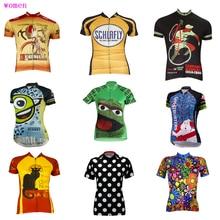 Несколько вариантов для женщин Велоспорт Джерси Ropa ciclismo летние шорты рукавом велосипед носить движение дышащий Одежда для велоспорта