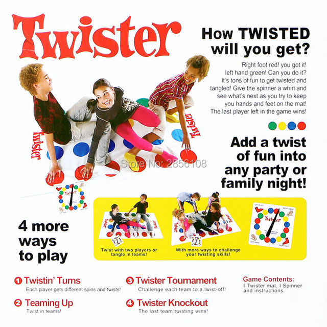 Classic Twister Game,The Game that Ties You Up In Knots,Multiplayer Twist Game Fun Outdoor Sports Balance Family Party Games