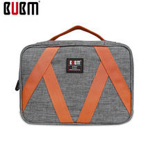 BUBM makeup bag toiletries bag big capacity travel bag handbag bag blue rose gray 3 color