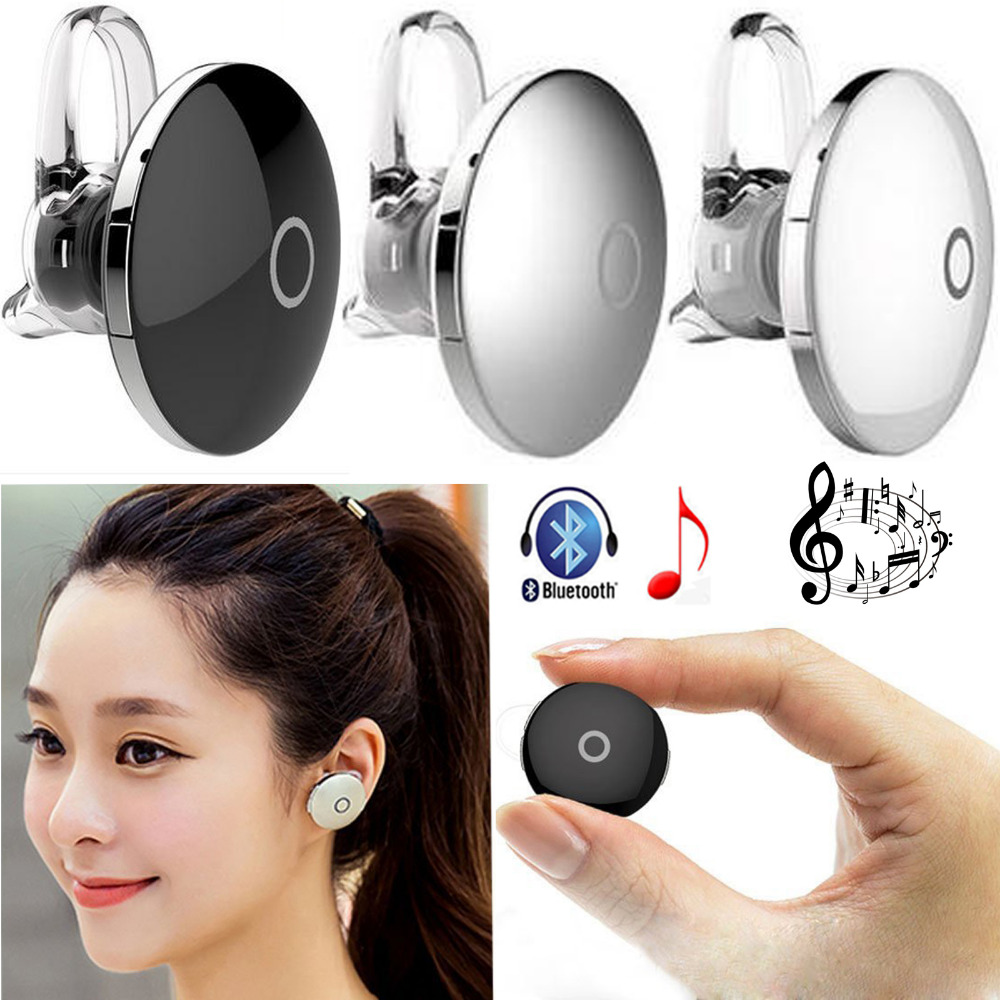 Mini Wireless Bluetooth 4.1 Stereo Headset Headphone Earphone Handsfree For Samsung Galaxy S7 S6 Note 5 iPhone 7 6S 5S HTC LG G5 remax t9 mini wireless bluetooth 4 1 earphone handsfree headset for iphone 7 samsung mobile phone driving car answer calls