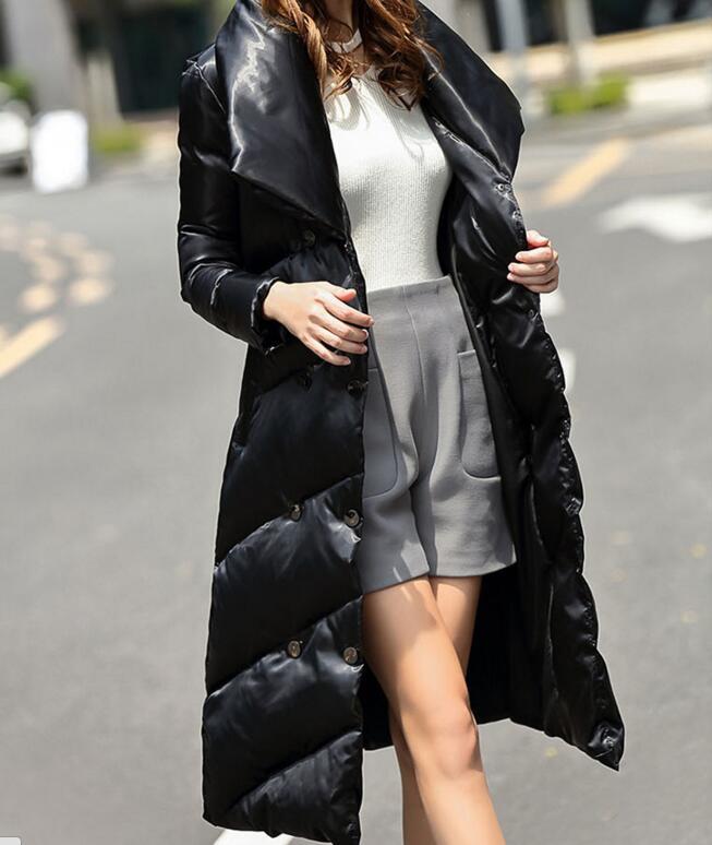 Large Collar Winter Women   Down     Coat   Thick Warm Winter Duck   Down     Coat   Long 90%   Down   Jacket Plus Size Women   Coat