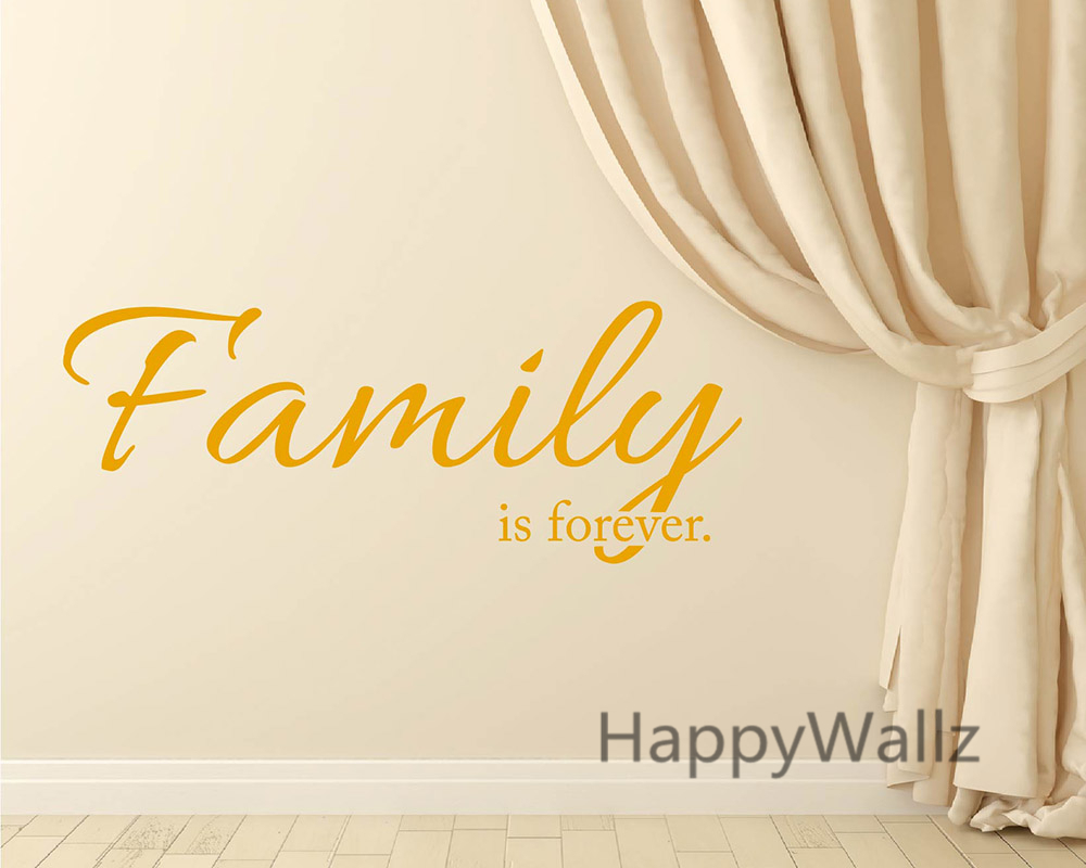Family is Forever Love Family Quote Wall Sticker Decorating DIY ...