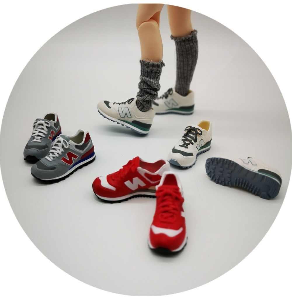 Menakjubkan 4.5 Cm 1/6 Boneka Plastik Plastik Sepatu Azone Sneakers Sepatu Blyth Kanvas Sepatu S-033