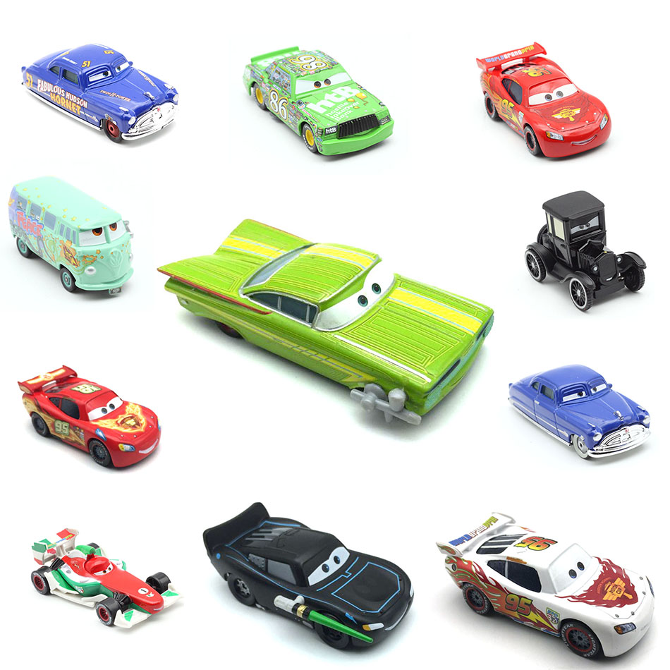 Disney Pixar Cars Race Team Mater Metal Diecast Toy Car 1:55 Loose Brand New In Stock & Free Shipping disney pixar cars frank and tractor diecast toy car for children gifts 1 55 loose alloy modle brand new in stock
