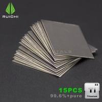 15PCS Titanium Sheet Ti 99.6% pure Titanium metals free shipping 0.5*25*25mm