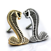 Car Sticker Grille Emblem Grill Badge For Ford Mondeo Focus Mustang Cobra Metal 2 Colors Auto