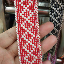 Webbing cotton jacquar Tape 3cm wide ethnic ribbon embroidery style trim accessory for bag/garment/homedeco