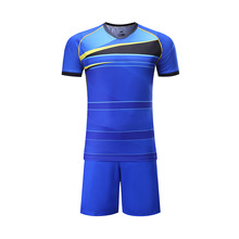 Sublimated Custom 2016 New style Soccer Sets Men  Training Football Short Sleeve Soccer Jersey shirt + shorts