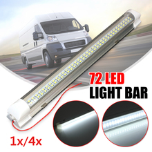 4Pcs 1Pc 12V Universal font b Car b font 72 LED White Light Bar Strip Auto