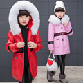 2016 New Brand Winter Children Jackets For Boy Fur Collar Boys Girls Cool Coats PU Leather Kid Jackets Thicken Warm Baby Clothes