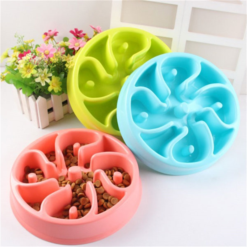 Hot-Sell Pet Dog Anti-Choke Feeder Slow Down Eating Feeder Dish Home Feeding Bowl Pet Puppy Heat-Resistant Bowls for Pet Dog