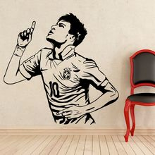 Football Player Wall Sticker Neymar Famous Decal Home Decoration Removable Murals AY1401