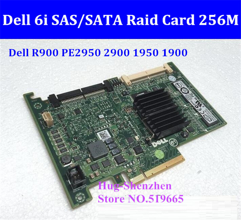 Adapter for DELL R610 R900 PE2950 2900 1950 1900 RAID integrated 256M ram RAID Controller card 6i SAS SATA Raid Card raid controller for 370 5403 02 512mb